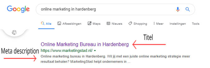 SEO titel en meta description